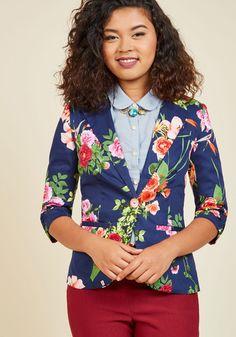 #AdoreWe #ModCloth Outerwear - ModCloth Fab Floral Designer Blazer - AdoreWe.com