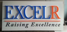 #LedSignage for #EXCELR located @Madhapur. #signage #signs #signboard #flexprinting