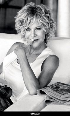 """Pin for Later: 12 Incredible Celebrity Quotes From 2015 That You Might Want to Write Down """"There are more important conversations than how women look and how they are aging."""" — Meg Ryan #shorthairstylesforwomen"""