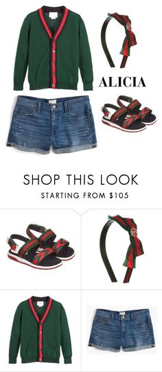 """Alicia de Grijze"" by julissadegrijze on Polyvore featuring Gucci and J.Crew"