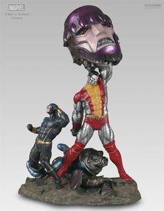 XMen vs Sentinel diorama (Cyclops & Colossus)