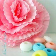 Cupcake liner flowers--brilliant!