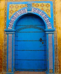 Africa | Door in Essaouira. Morocco. | ©Elsa11, via flickr