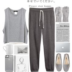 lazy days by flaunting on Polyvore featuring H&M, UGG Australia, Calypso Private Label, John Lewis, Apilco and Polaroid