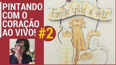 PINTANDO COM O ❤ AO VIVO AULA #2 COM TÂNIA MARQUATO - 3 GATINHOS PENDURI...