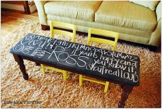 chalkboard table for the kiddos