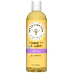 Burt's Bees Baby Bee Shampoo and Wash, Calming, 12 Fluid Ounces (Packaging May Vary) Baby Toys, Natural Moisturizer, Natural Shampoo, Lotion, Baby Shampoo, Baby List, Baby Supplies, Burts Bees, Flowers