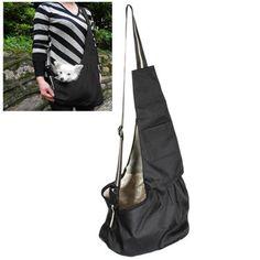 Pet Carrier Front Bag Oxford Cloth Sling Dog Cat Single Shoulder Black Front Chest
