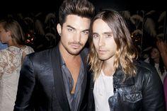 Adam Lambert and Jared Leto