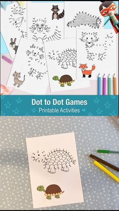 Dot to Dot Printable Pages for Kids, Connect the Dots Worksheets, Printable Puzzle Book