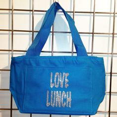 Glitter Love Lunch Insulated Lunch Bag (Turquoise) - LikeWear