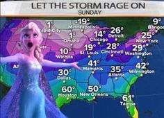Let the storm rage on... Wow, that's cold!! #DisneyFrozen