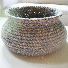 crochet basket and other crochet ideas