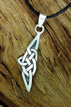 925 Sterling Silber, Keltischer Knoten, Ketten-Anhänger, Hopi-Style, handgesägt