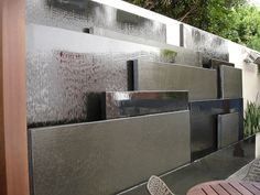 Pool water feature wall | AWA Inspiration 31-13 | Pinterest | Pool ...
