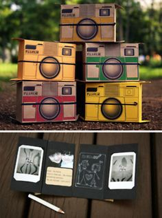love this, pinhole camera on instant film that turns into a card!