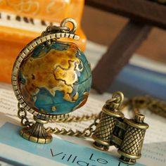 lovely globe necklace <3