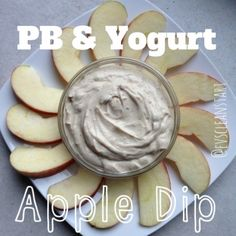 Ripped Recipes - Pb & Yogurt Apple Dip - A simple and clean snack or dessert! Tastes too good to be healthy!