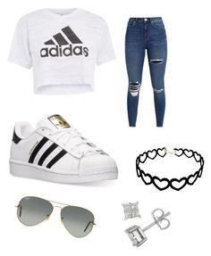 """Adidas"" by boyd2 ❤ liked on Polyvore featuring Topshop, adidas and Ray-Ban"