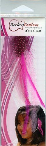 Rocken Feathers Kids Club Natural Hair Extensions Hand Made in the USA - Pink!! by Rocken. $6.99. Wowzzer!! We are very proud to be an official internet distributor of Rocken Feathers Natural Hair Extensions. Feather Hair Extensions are the hottest fashion trend that is sweeping the country! Many of todays most popular young celebrities are wearing them including Selena Gomez, Kei$ha, Miley Cyrus, Hillary Duff, Jennifer Love Hewitt to name just a few. They are all ...