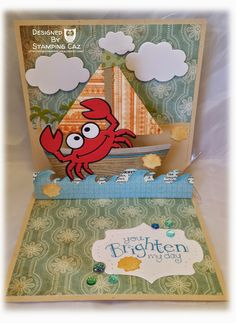 A STAMPING & CHIRPING Corner: Karen Burniston January 2015 Challenge - Day 2 - Rock(y) the boat
