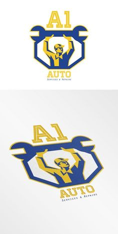 Auto Services and Repair Logo by patrimonio on @creativemarket