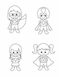 Superhero Graphics - Complete Set by Laura Harley Superhero Template, Superhero Names, Superhero Classroom, Classroom Crafts, Classroom Themes, Disney Coloring Pages, Colouring Pages, Coloring Books, Super Hero Activities
