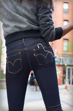 Here's to celebrating and feeling alive when you Live In Levi's. Levi's Skinny Jeans that make you the focal point when you're out on the dance floor or on your walk to work.