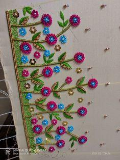 Blouse Designs Catalogue, Kids Blouse Designs, Hand Work Blouse Design, Hand Designs, Hand Embroidery Design Patterns, Hand Embroidery Videos, Kutch Work Designs, Beaded Jewelry Patterns, Siri