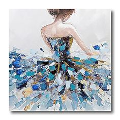Acrylic Painting Canvas, Canvas Art Prints, Large Canvas Art, Canvas Canvas, Ballerina Painting, Dance Paintings, Oil Paintings, Ballet Art, Ballet Dancers
