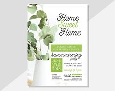 Host your housewarming party with these personalized PRINTABLE invitations! With a rustic modern charm, these digital invitations are super adorable and made to order. Available via Etsy at DiamariDesigns Digital Invitations, Printable Invitations, Custom Invitations, Housewarming Decorations, Housewarming Party Invitations, Text Layout, Printable Designs, Home Decor Styles, Invitation Design