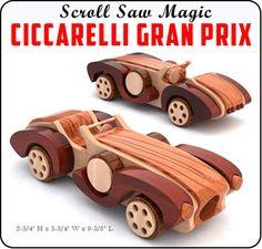 Scroll Saw Magic Ciccarelli Gran Prix Wood Toy Plan Set