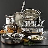 All-Clad Copper Core 13 Piece Cookware Set