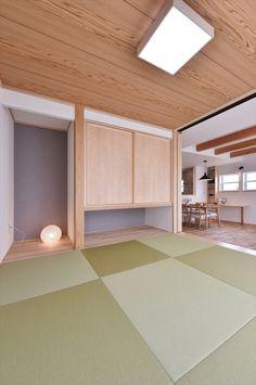 小上がりの和室と繋がる広々リビングに家族が集う快適な木の家 寺島製材所の写真集 Washitsu, Tatami Room, Japanese House, Being A Landlord, Home Renovation, Small Spaces, My House, New Homes, Minimalist