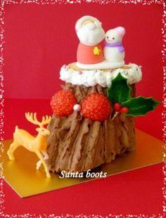 クリスマスに・・サンタブーツのチョコロールケーキ☆|レシピブログ
