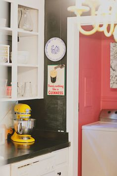 I love the idea of painting the inside of a nook!