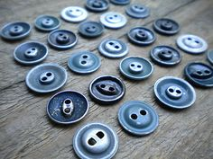 Vintage Work Clothes Metal Buttons
