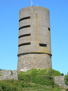 Fort Saumarez is a Martello tower in Saint Peter, Guernsey, on a headland that forms the northern tip of L'Erée and extends to the Lihou causeway.[1] It was constructed in 1804 on the site of an existing battery after the onset of the Napoleonic Wars, and during the tenure (1803-1813) of Lieutenant Governor General Sir John Doyle.
