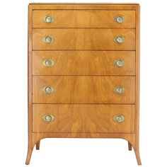 John Stuart Mid Century Modern Art Deco Style High Chest Dresser   From a unique collection of antique and modern commodes and chests of drawers at http://www.1stdibs.com/furniture/storage-case-pieces/commodes-chests-of-drawers/