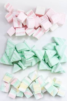 Pretty pastel marshmallows.