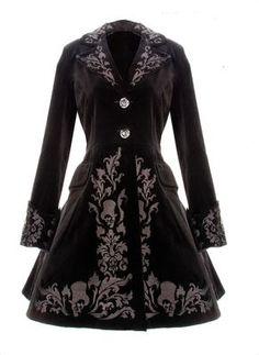 Kleid Viktorianisch Schwarz Samt Mantel Gotisch Doktor Vintage Steampunk 2014