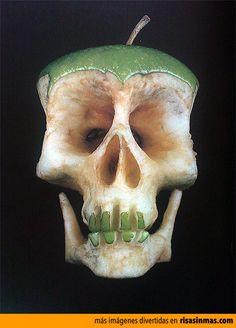 Calavera manzana.