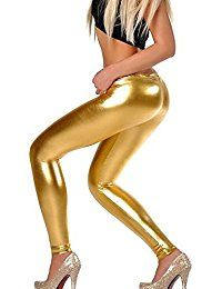 Liquid Wet Look Shiny Metallic Stretch Leggings (XL, Gold) polyester, Machine Washable High quality Full Length Legging 3 Sizes for choose and 7 colours shown Imported Leggings Brilhantes, Shiny Leggings, Faux Leather Leggings, Leggings Fashion, Fashion Pants, Leggings Are Not Pants, Pu Leather, Leather Pants, Fashion Clothes