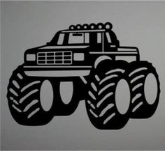 boy monster truck images | Boys Room Decor Big Monster Truck Wall Art Decal 32"