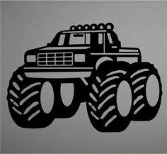 "boy monster truck images | Boys Room Decor Big Monster Truck Wall Art Decal 32"" | eBay"