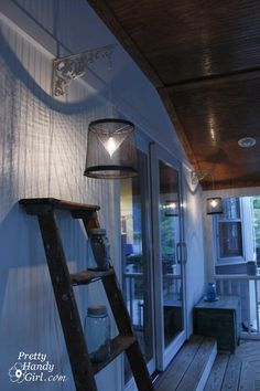 Creating Minnow Trap Light Pendants.  No idea where I would get minnow traps but I love these lights for my sunroom.  kh