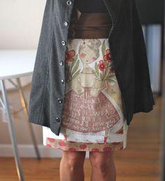 It's a skirt, using the Girls in Bloom fabric panel by amazing artist, Cori Dantini. (I heart Cori.)