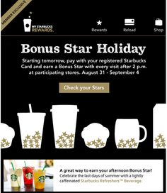 Brand: Starbucks. The type of sales promotion used is a loyalty/continuity program targeted to consumers who are loyal to the brand to increase their consumption rate.  This is a franchise building promotion because it helps to build the brand equity and loyalty of the consumer to the brand.