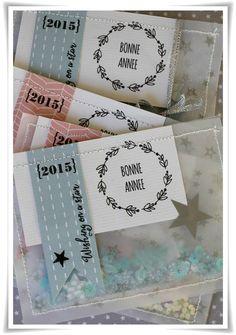Pochette Confettis {tuto inside} Christmas Mood, Christmas Cards, Box Frame Art, Artist Card, Shaker Cards, Handmade Birthday Cards, Card Tags, Happy Planner, Diy Cards