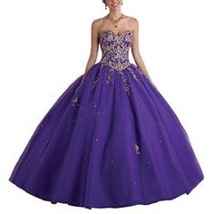 8d1a51c1e44 Women s Bead Lace Up Ball Gown Long Sweet 16 Quinceanera ... https